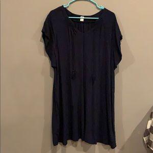 Navy blue tunic type dress